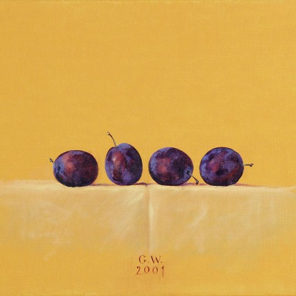 Four blue plums